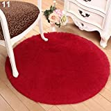Amesii - Soffice tappeto rotondo, antiscivolo, per bagno, camera da letto, yoga, decorativo -# 1CF0278, dimensioni:40cm x 40cm #11