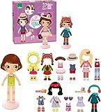 Vilac Vilac2800 Chloe's Dressing Little Wooden Magnetic Doll To Dress Up (42-Piece)