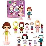 Vestir Little Doll magnético de madera de Vilac Chloe Para Vestir (42 piezas)