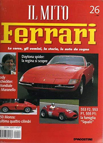 Il Mito Ferrari 26 Jody Scheckter - 553 F2-553 F1-555 F1 - 750 Monza - 365 GTS/4