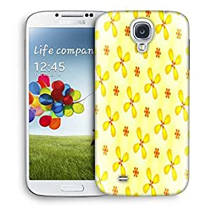 Snoogg Yellow Flower Designer Protective Phone Back Case Cover For Samsung Galaxy S4