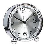 Wecker Analog Lautlos, Likeluk Lautlos-Wecker Sweep-Uhrwerk ohne Ticken