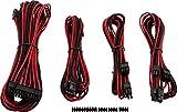 Corsair Internal Black Power Cable Starter-Set, Male/Male, RMi Series, RMX Series, SF Series, Type 4 PSU, Rosso/Nero