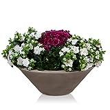 Pflanzschale Blumenschale TAZA 22 Kunststoff, 60x60x22 cm, beige matt