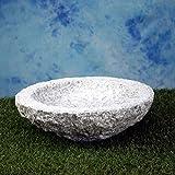 Vogelbad aus Granit in Schalenform (ohne Vögele)