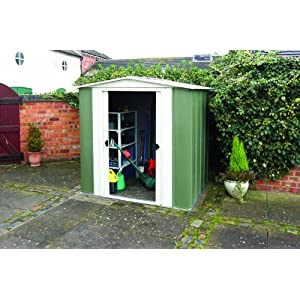 51T6EjdhCjL. SS300  - Rowlinson 6 x 5ft Metal Apex Shed
