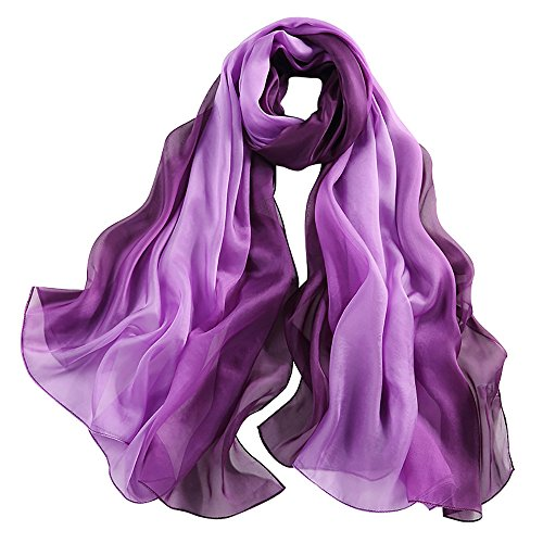 STORY OF SHANGHAI Women's 100% Silk Scarf Large Shawl Wraps