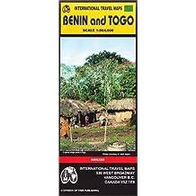 Carte routière : Bénin - Togo (en anglais)