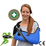 Armschlinge Schulterstütze Ellbogen Schulter Arm Unterstützung Sling Wiege. Entworfen für verhindern die Schmerzen Nacken – schweißbeständig, hypoallergen. Ohne Neopren oder Latex.