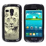 Paccase / Tasche Schutzhülle Case Cover Hülle Für - Fierce Lion Big Cat Tiger - Samsung Galaxy S3 MINI NOT REGULAR! I8190 I8190N