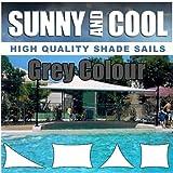 SAFETYON 4x4/6/ 8M Sonnenschutz Sonnensegel Segel Garten Shade Sail Schattensegel Sonnenschirm Zelt Terrasse UV Markise Dach Wasserdicht Grau 4x6M