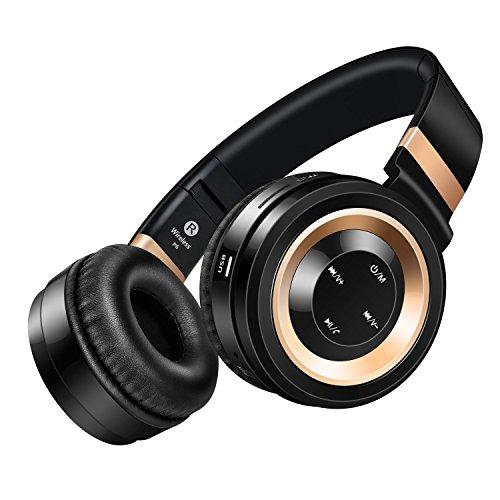 hbkj Stereo Bluetooth Over-Ear Cuffie Pieghevoli Con Microfono Per Dispositivi (Ottone Impatto Della Testa)