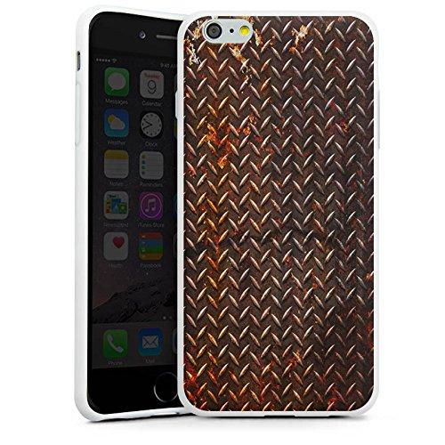 Apple iPhone X Silikon Hülle Case Schutzhülle Rost Look Metall Braun Silikon Case weiß
