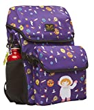 AARYA LONDON Kinderrucksack mit abnehmbarer Brotdose I Kindergartenrucksack I Süße & robuste Kindergartentasche Design Weltraum - 7.5 l, lila (Girl Astronaut)