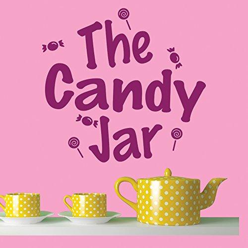Jar-küche Dekor (The Candy Jar Lolipops & Süßwaren Wand Zitat Wandaufkleber Küchen-Dekor-Kunst-Abziehbilder verfügbar in 5 Größen und 25 Farben Groß Nussbraun)