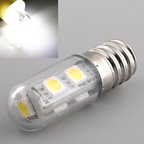Haihuic E14 1W 7LED 5050 SMD 60-80LM 6000-6500K LED a luce bianca naturale Lampadina Frigorifero (220V)