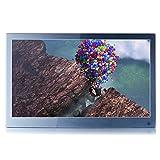 12 Zoll Metall Digitaler Bilderrahmen IPS Display 1920*1080 HD-Video Wiedergabe, Slim Elektronischer Bilderrahmen mit Fernbedienung, Zufallswiedergabe, MP3 und Digital Album,Schönes Geschenk (Grau)