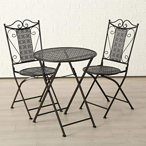 Set Broder 1 Tisch + 2 Stühle Material: Eisen - 2 Eisen-set