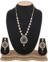 Dancing Girl Wedding Bridal Jewellery Black Metal Alloy Necklace Sets Jewellery Sets For Women