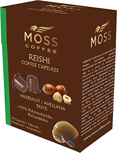 Moss Coffee 10 Cápsulas compatibles Nespresso* con polvo puro de Reishi - Avellana