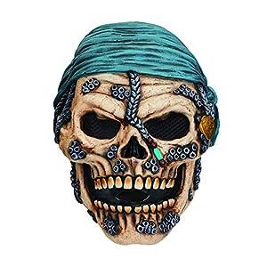 Bristol Novelty Novelty-BM543 BM543 - Máscara de calavera pirata (talla única), multicolor