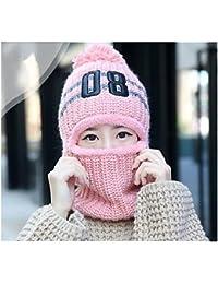 DaoRier 1pc Sombrero de las Mujeres Orejeras de Lana de Invierno Además de  Terciopelo de Punto Cálido Sombrero… 1490e51ff81