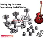PennyCreek 6 Pieces Semiclosed Tuners Tuning Pegs with Accs for Electric Acoustic Guitars