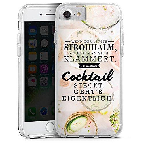 Apple iPhone X Bumper Hülle Bumper Case Glitzer Hülle Spruch Visual Statements Cocktail Bumper Case transparent