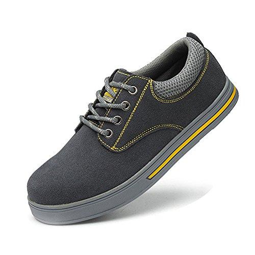 SUADEEX Zapatos de Seguridad para Mujer Punta de Acero Hombre Zapatos de Trabajo Antideslizante Ligeras Calzado de Industrial y Deportiva Unisex