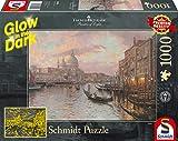 Schmidt Spiele Puzzle 59499 Thomas Kinkade, In den Straßen von Venedig, Glow in The Dark, 1000 Teile Puzzle, bunt