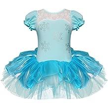 iEFiEL Niñas Vestidos Elegantes de Ballet Frozen Princesa de Danza Tutú con Braga Interior Disfraces para Niña
