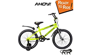 AHOY! Fitted & Ready to Ride Cycle 20 inch Shredder for Boys (7 to 10 Years) - Neon Yellow