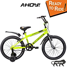 AHOY! Fitted & Ready to Ride Cycle 20 inch Shredder for Kids (7 to 10 Years) - Neon Yellow