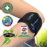 Codera CODO DE TENISTA-GOLFISTA /Tennis elbow (AZUL) - Tratamiento de epicondilitis. Llevado en Wimbledon. ANTI-SUDOR, HIPOALERGÉNICO (sin Neopreno/latex). 4DflexiSPORT.