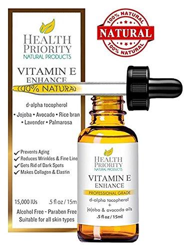 Kollagen Und Für Gesicht Elastin (100% Natürliches & Organisches Vitamin-E-Öl für Ihr Gesicht und Ihre Haut - 15000 IU - reduziert Falten, hellt dunkle Flecken auf und gibt Ihrer Haut ein jugendlicheres Aussehen. Nicht allzu dickflüssiges Öl, angereichert mit Jojoba- und Avocadoöl, verleiht Ihrer Haut Weichheit und klebt nicht. Stellt Kollagen und Elastin her. Meistgekauftes Vitamin-E-Öl ist besser als Kapseln! Endlich die Ergebnisse erhalten, die Sie gesucht haben! Zufriedenheit GARANTIERT! (0.5 flüssige Unze, duftend))