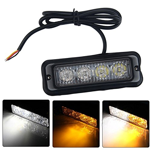 niceEshop(TM) Emergency Vehicle Light Bars 12V-24V Warnung Blinkende LED Strobe Leuchten für Trucks Pickup RVs Autos, 1Stk (Strobe Light Pickup)