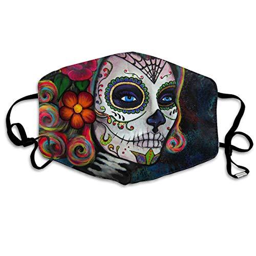 WBinHua Masken, Masken für Erwachsene, Mask Face, Mouth Mask, Breathable Mask Anti Dust, Unisex Skull Candy Printed Cotton Mouth-Masks Face Mask Polyester Anti-dust ()