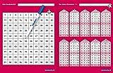 Mein Hunderterfeld und Das kleine Einmaleins mit Stift: Mein Hunderterfeld und Das kleine 1x1 mit Spezialstift, wiederbeschreibbare Tabellen, trocken abwischbar ohne zu schmieren für die 2. Klasse