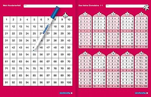 nd Das kleine Einmaleins mit Stift: Mein Hunderterfeld und Das kleine 1x1 mit Spezialstift, wiederbeschreibbare Tabellen, trocken abwischbar ohne zu schmieren für die 2. Klasse ()