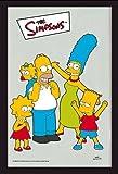 Empire Merchandising GmbH 538246 - Specchio con cornice di plastica ad effetto legno, con stampa della famiglia Simpson, 20 x 30 cm