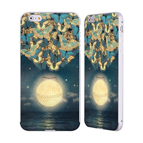 Ufficiale Paula Belle Flores Una Notte A Parigi Luna Argento Cover Contorno con Bumper in Alluminio per Apple iPhone 5 / 5s / SE Salendo