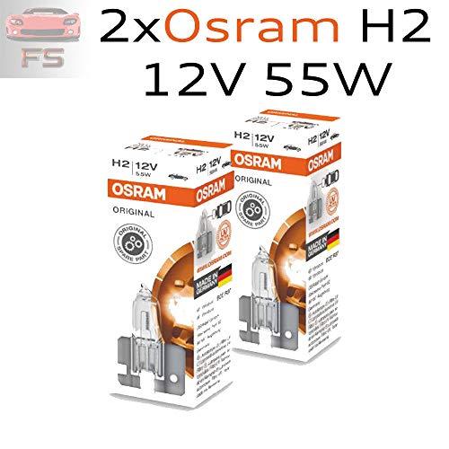 Jurmann Trade GmbH® 2 St. Auto Lampen Automotive H2 12V 55W X511 ORIGINAL LINE Halogen Scheinwerfer Lampen 64173