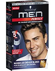 Schwarzkopf Men Perfect - Gel Colorant Anti-Cheveux Blancs - Châtain Clair Naturel 50