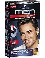 schwarzkopf men perfect gel colorant anti cheveux blancs chtain clair naturel 50 - Gel Colorant Cheveux