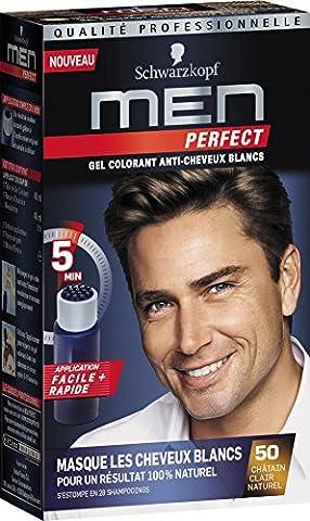 Schwarzkopf - Men Perfect - Gel Colorant Anti-Cheveux Blancs - Châtain Clair Naturel 50