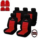 eSituro Universal Sitzbezüge für Auto Schonbezug mit 4 teillige Fußmatten SCMS0037-X