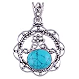 3.90 Grams Genuine Turquoise .925 Sterling Silver Pendant