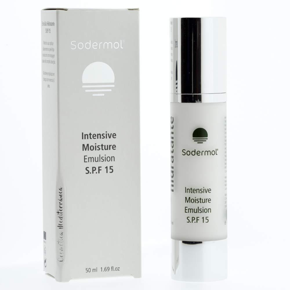 Crema Fácial Hidratante con Betaina que favorece la creación de colageno. Factor proteccion solar 15fs piel hidratada todo el día 50ml de Sodermol