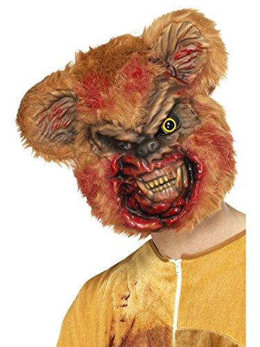 Kostüm Zubehör Maske Zombie Bär Teddy braun Halloween (Teddy Bär Kostüme)