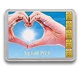 Goldbarren 5 Gramm 999.9 Feingold - Flipmotiv Goldene Zukunft - Geschenkbarren - Goldgeschenk